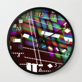 Geometric Color Wall Clock