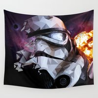 stormtrooper Wall Tapestries featuring Stormtrooper by Ruveyda & Emre