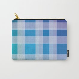 Green, Blue, Purple Plaid Carry-All Pouch