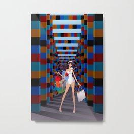 Shopping girl in Mexico Metal Print