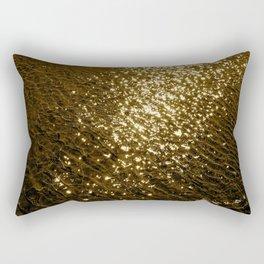 Golden Tide Rectangular Pillow