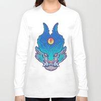 foo fighters Long Sleeve T-shirts featuring Blue Foo by missmonster