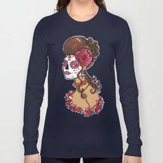 Glamorous Sugar Skull Girl Long Sleeve T-shirt