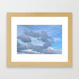 Cloud ring Framed Art Print
