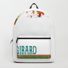 girard Illinois Retro Vintage Custom Funny Backpack