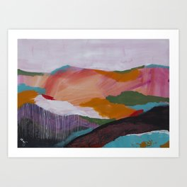 Roses Aren't Red 3 - Contemporary Abstract Landscape Art Print