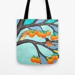 B. orioles in the stained glass tree Tote Bag