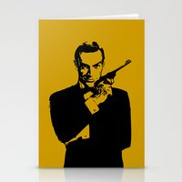 james bond Stationery Cards featuring James Bond 007 by Walter Eckland