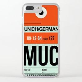 MUC Munich Luggage Tag 2 Clear iPhone Case
