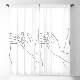 Line Hands 2 Blackout Curtain