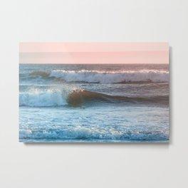 Beach Adventure Summer Waves at Sunset Metal Print