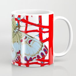 RED-WHITE MOTHS  IN SYNCHRONIZED FLIGHT Coffee Mug