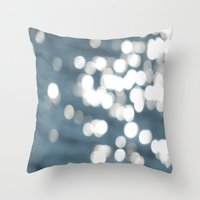 sparkles Throw Pillows featuring Sparkles by Lady Tanya bleudragon
