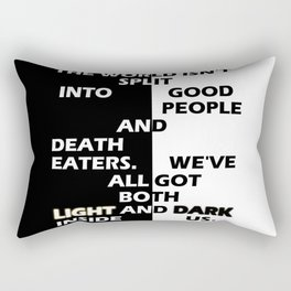 Good People and Death Eaters Rectangular Pillow