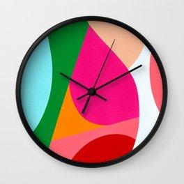 Colorful Abstract Shapes Bold Wall Clock