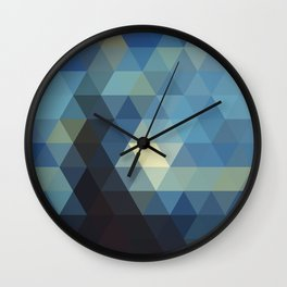 Starry Night Mosaic Wall Clock