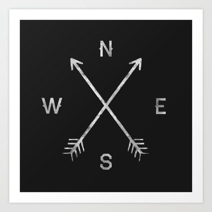 Compass Art Print