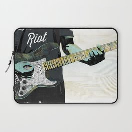 Music Piece of a Person Playing Guitar Laptop Sleeve