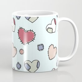 Celestial background with darned hearts Coffee Mug