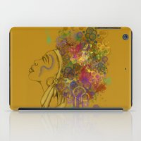 afro iPad Cases featuring Afro by KiraTheArtist