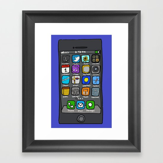 iPhone by Jenny Framed Art Print