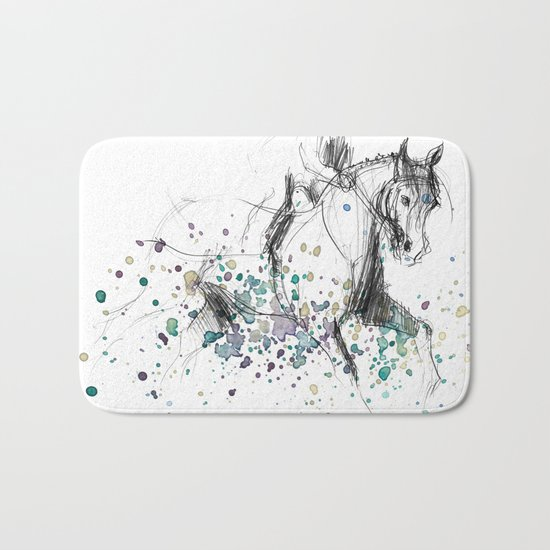 Horse (Rainy canter) Bath Mat