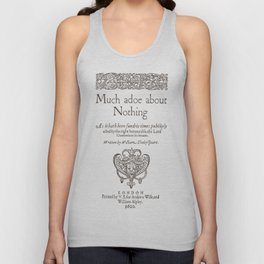Shakespeare. Much adoe about nothing, 1600 Unisex Tank Top