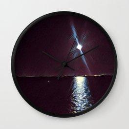 Lake Moonlight Night Wall Clock