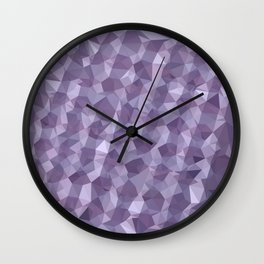 Dark Raspberry Abstract Low Polygon Background Wall Clock