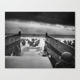 Omaha Beach Landing -- D-Day Normandy Invasion Canvas Print