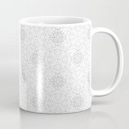 delicate lace - grey on white Coffee Mug