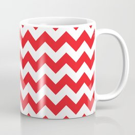 Red Chevron Coffee Mug