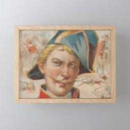 Vintage Stede Bonnet Portrait Illustration (1888) Framed Mini Art Print