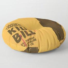 Kill Bill, Quentin Tarantino, minimal movie poster,  Uma Thurman, Lucy Liu, alternative film Floor Pillow