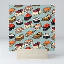 Sushi Otter Mini Art Print