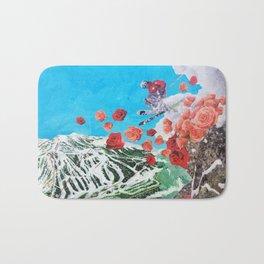 Ski Roses Bath Mat