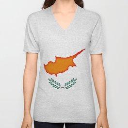 Cyprus flag Unisex V-Neck