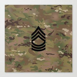 Master Sergeant (Camo) Canvas Print
