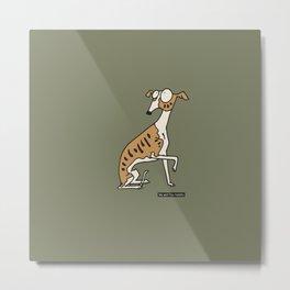 Dog - whippet Metal Print