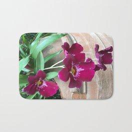 Purple Potted Plants Bath Mat