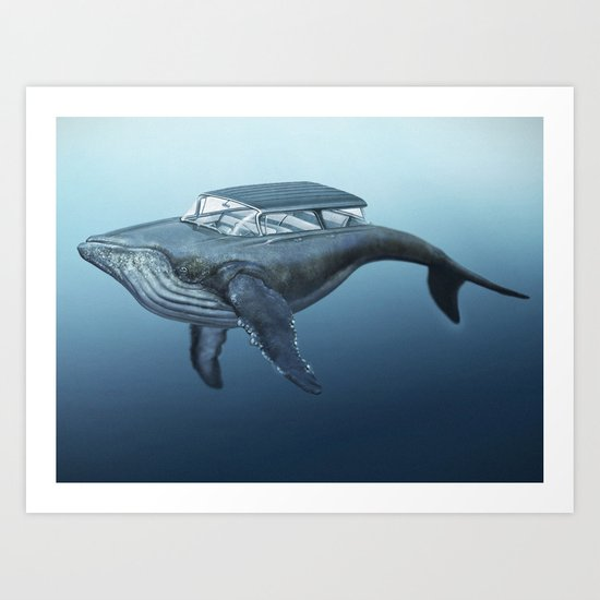 The Mercury Cruiser of the Sea Art Print