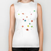 planets Biker Tanks featuring Planets by camilla falsini