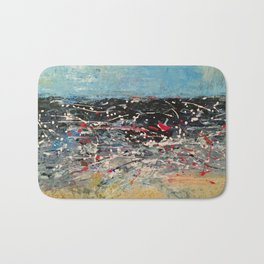 Tossed Upon the Angry Wave Bath Mat
