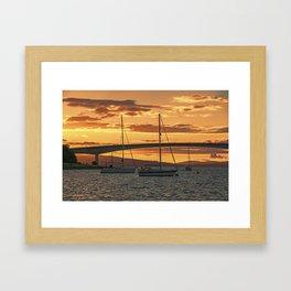 Skye Bridge Sunset Framed Art Print