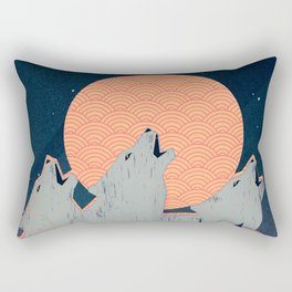 Howling Moon Rectangular Pillow