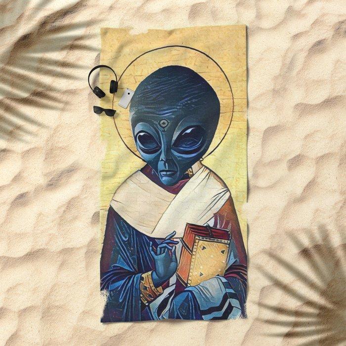 St. Alien Beach Towel