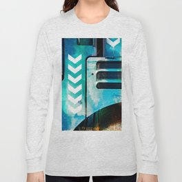 Road Roller Chevron 03 - Industrial Abstract (everyday 19.01.2017) Long Sleeve T-shirt