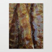 bacon Canvas Prints featuring Bacon by John Grey