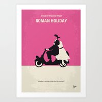 entourage Art Prints featuring No205 My Roman Holiday minimal movie poster by Chungkong