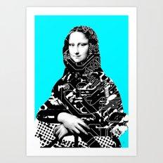 Mona Lisa Platina 4 Art Print